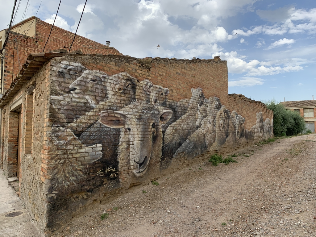 Penelles is a nearby village full of murals