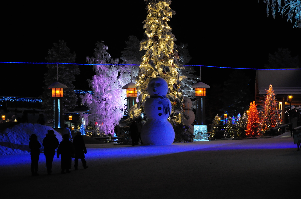 At Arctic Circle in Christmas time.