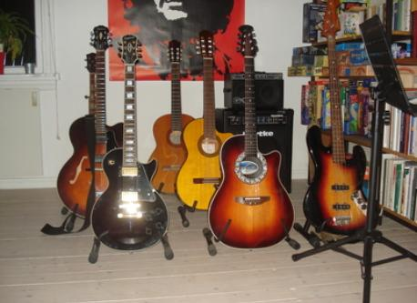 Jukka's guitars