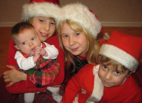 Here are our children in christmas 2012.