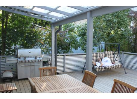 Grill and patio