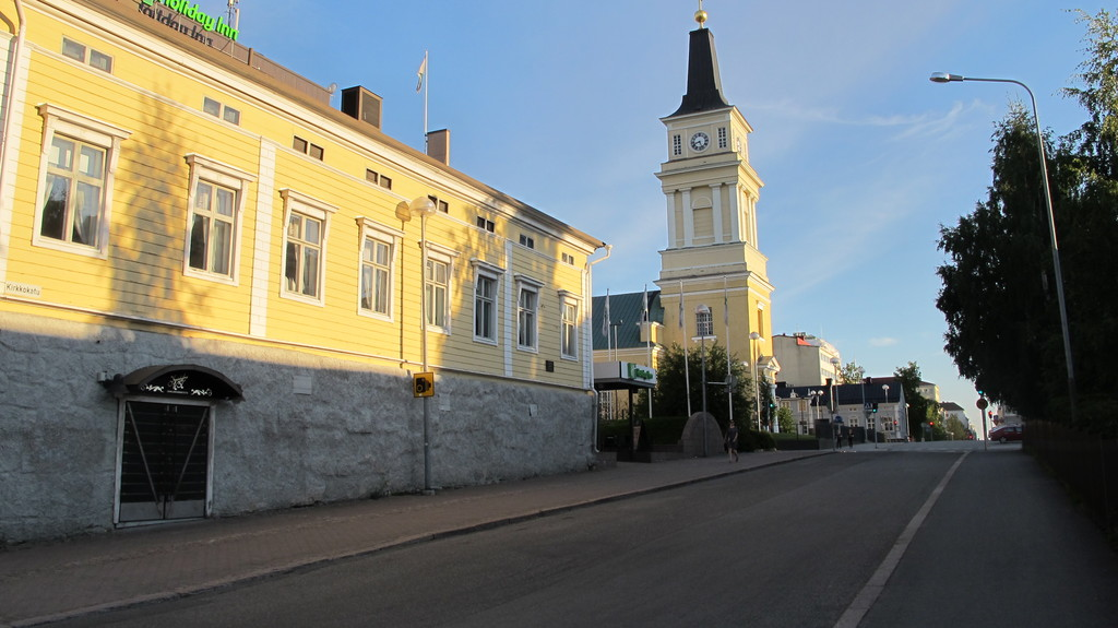 Old buildings and church in the town centre