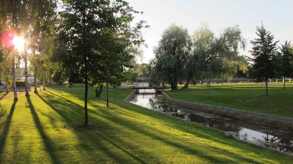 one of the parks in Oulu