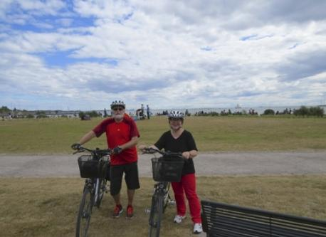 We love to ride a bike. This picture is from Helsinki sea shore summer 2013