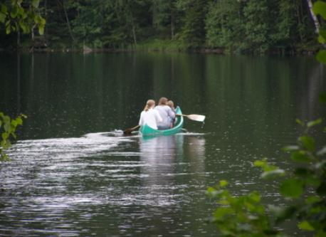 canoeing by our summer cottage