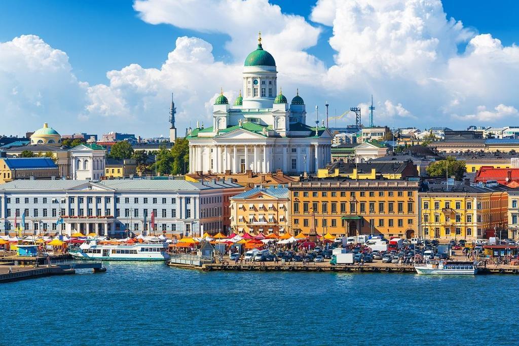 Landscape of Helsinki city centre