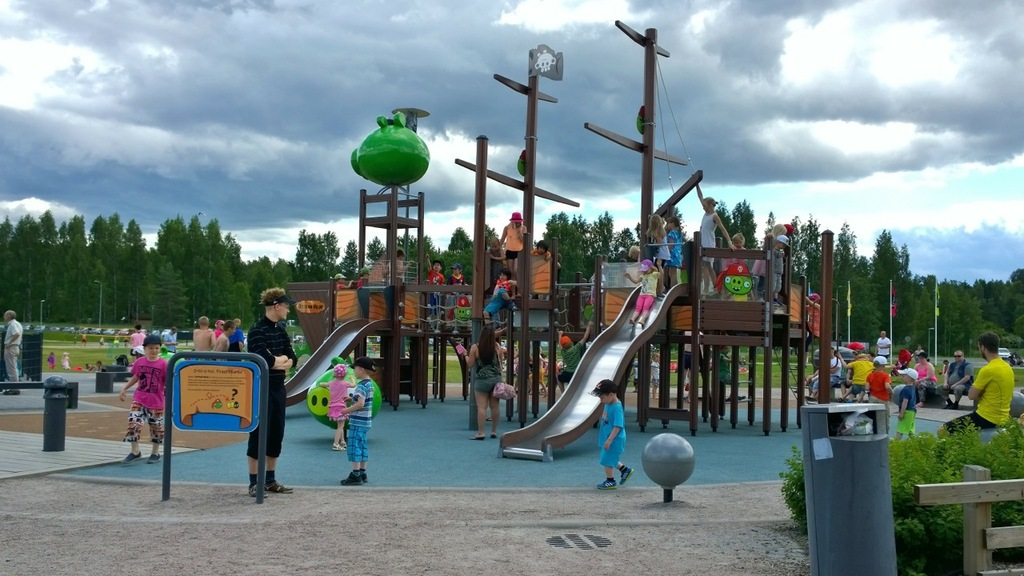 Oittaa beach and Angrybirds park