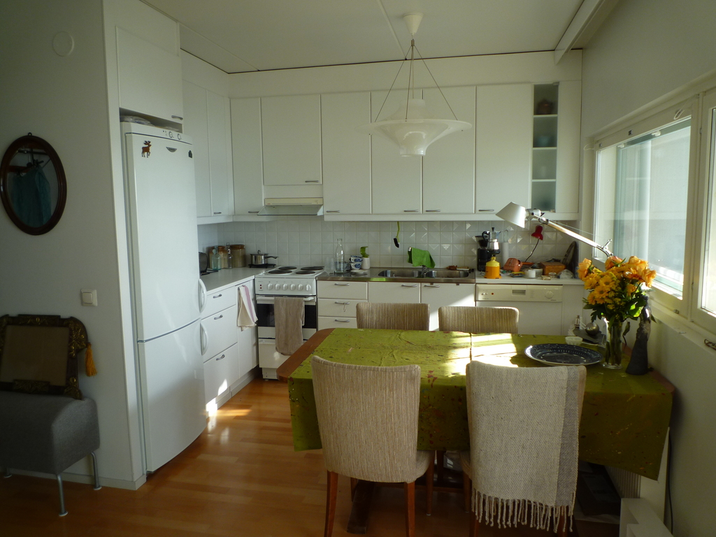 Kitchen with lunch table