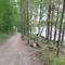 Beach road along lake Saimaa.