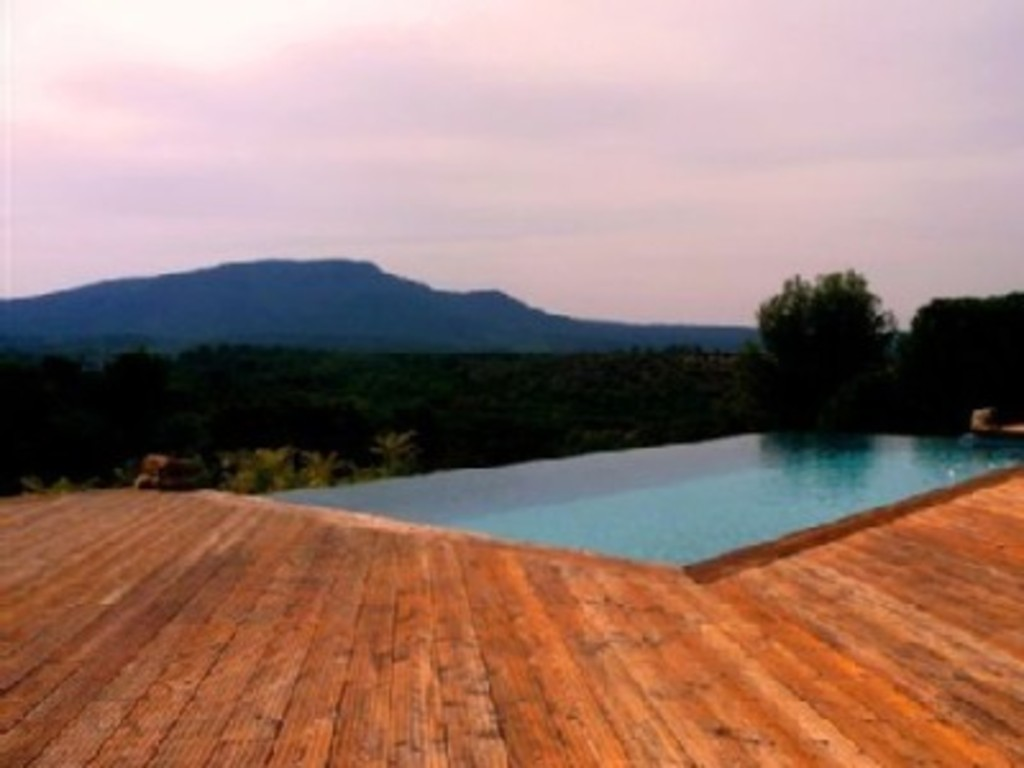 view over infinity pool - perfect for the apero !