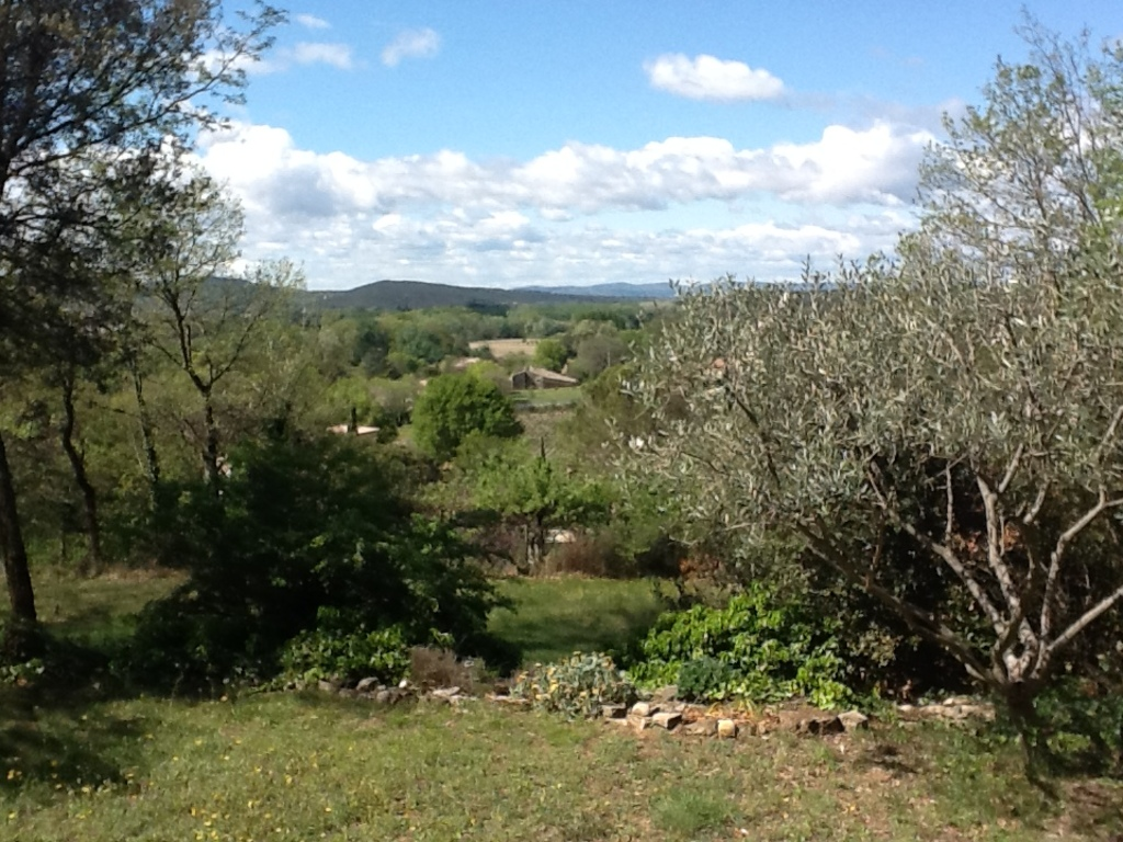 View from the house to the valley of the Rhône