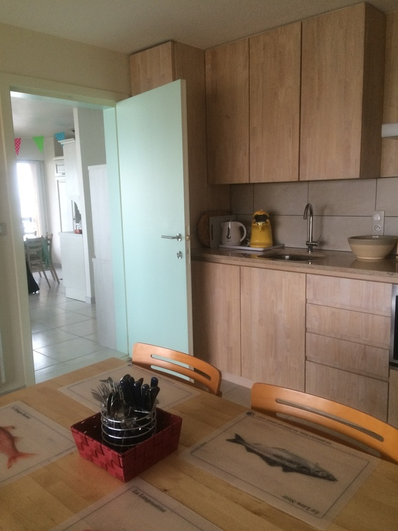 kitchen in flat, door to appartment