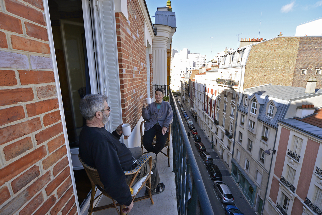 Hervé & Anne on balcony