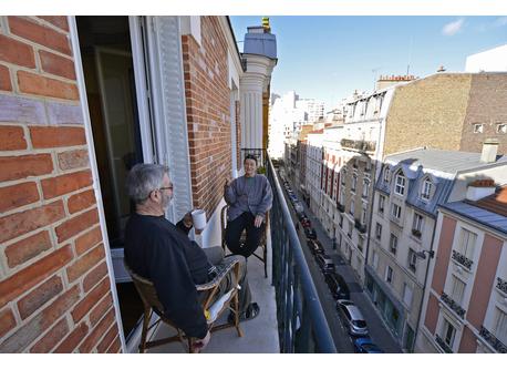Hervé & Anne on balcony