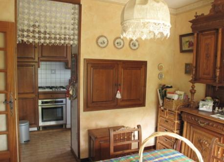 small dining room and kitchen corner in our villa