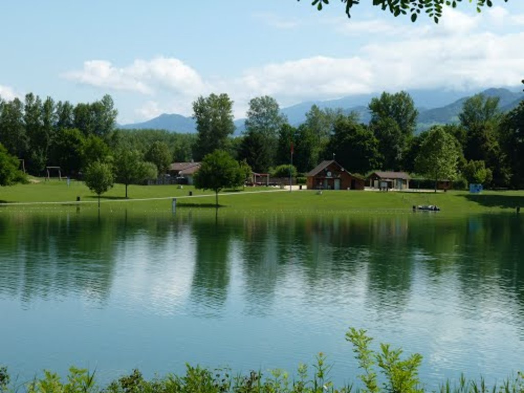 "the lake ""le bois français"" with beachs and where you can swim."