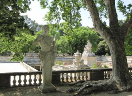 """Les Jardins de la Fontaine pour se délasser et se promener. Public garden """"Jardin de la Fontaine"""", so romantic for to walk, ..."""