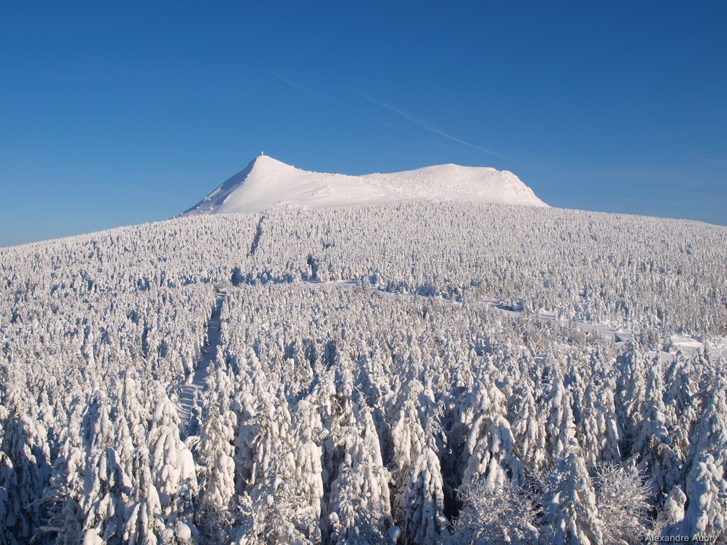 Mount Mezenc in winter