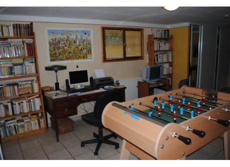 downstairs, the playing room