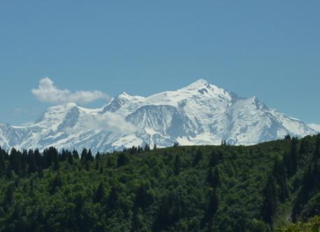 Mt Blanc from Les Benes