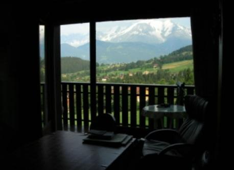 Mt Blanc from our main room