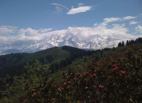 Mt Blanc from Col du jaillet in May