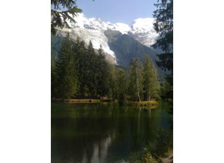 glacier des Bossons from lac des Gaillands-Chamonix