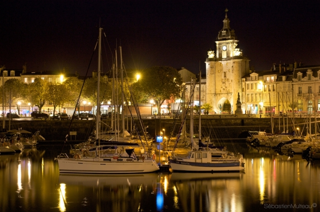 harbour by night, La Rochelle