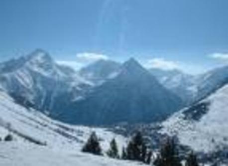 international ski resort, great elevations from 1600 to 3600 m