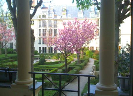 View from the balcony in spring