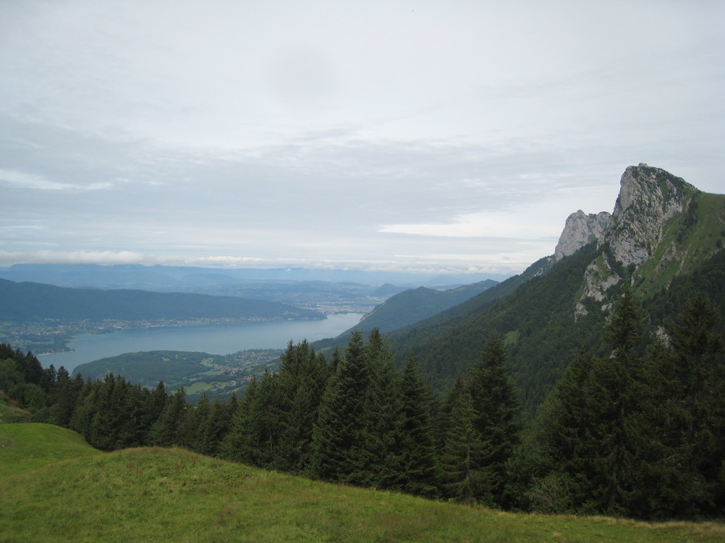 View on Annecy's lake from Chalet de l'Aulp