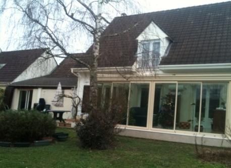 vue maison en hiver