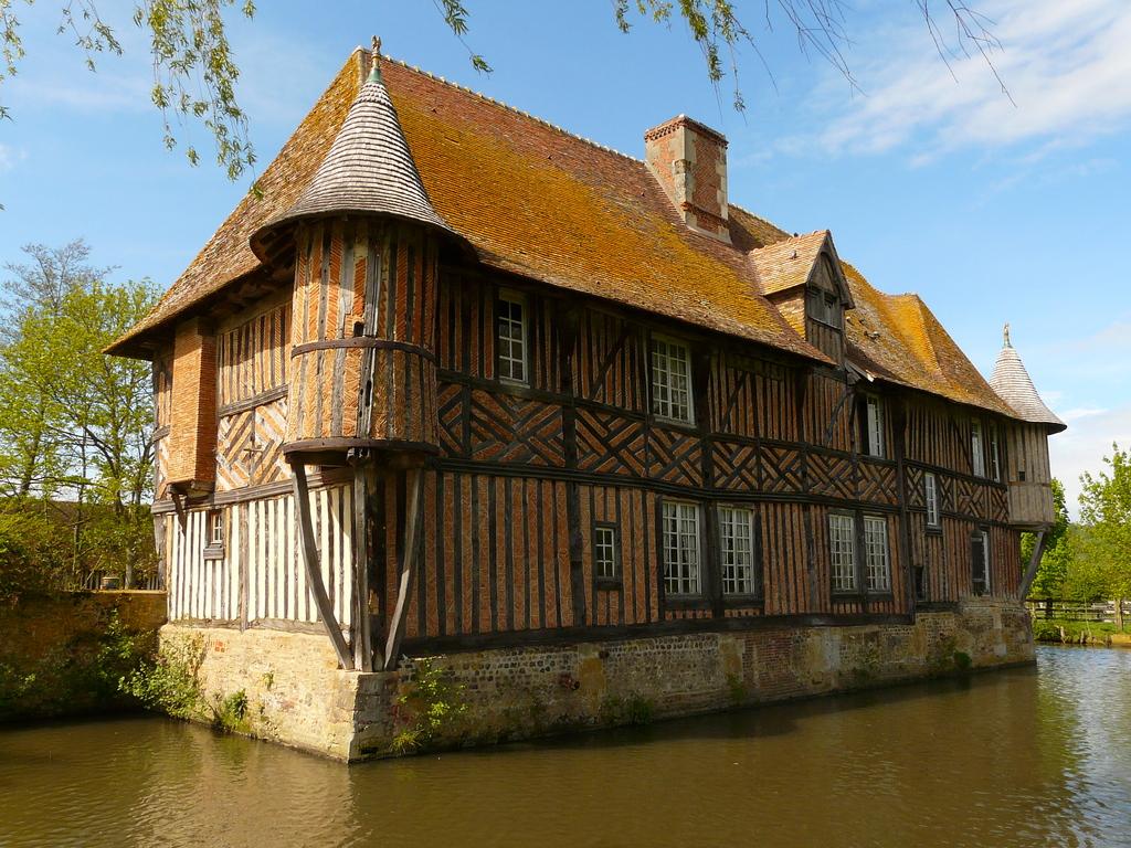 Manoir de Coupesarte à Saint-Julien-le-Faucon (architecture typique de la région de Lisieux)