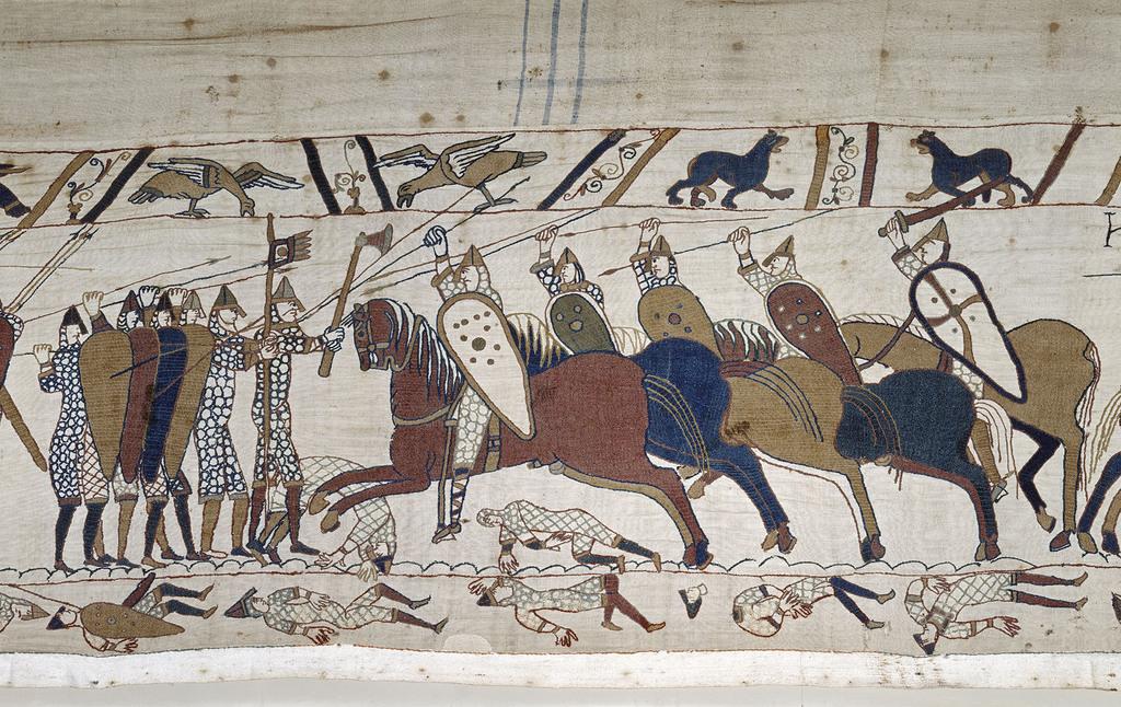 La Tapisserie de Bayeux : la bataille d'Hastings (1066) perdue par l'Angleterre