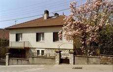 the house, picture from the street