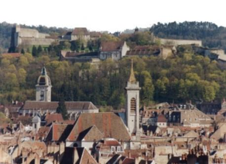The roofs of the old town of Besancon.