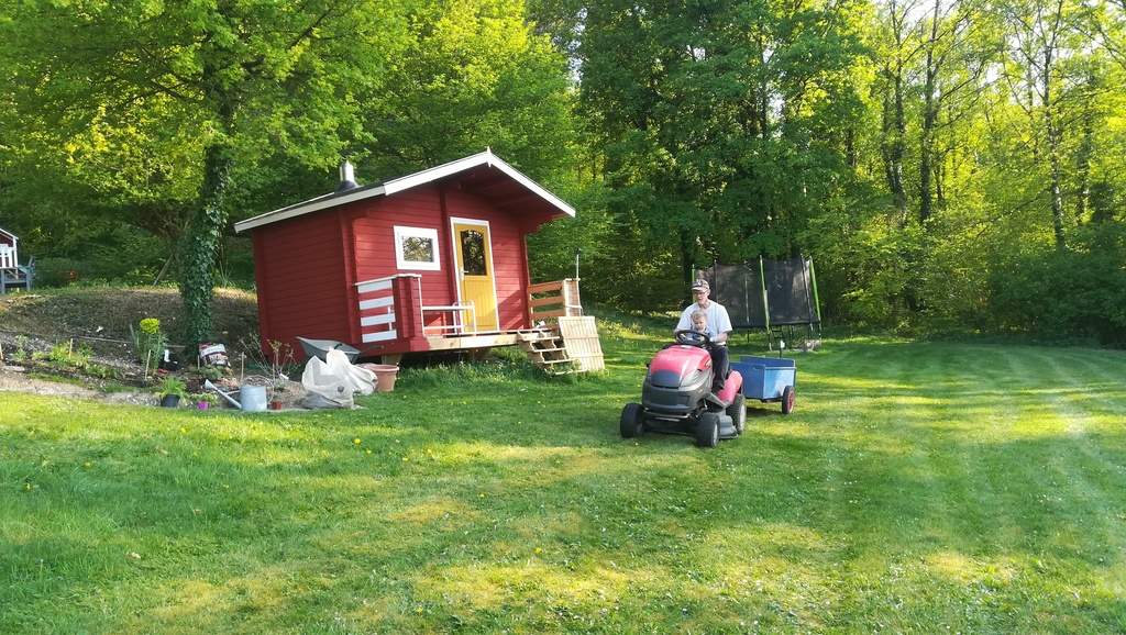 New color for the sauna, color red from Falun in Sweden