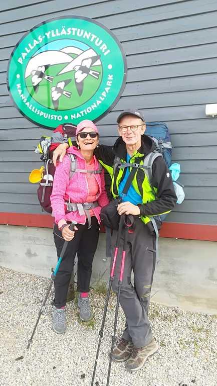 randonnée en  Laponie finlandaise  en 2019