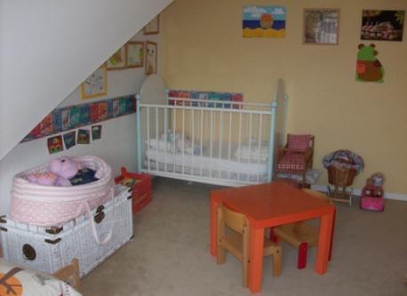 Chambre jaune enfants