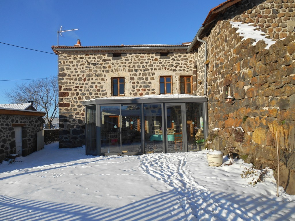 Front of the house in winter.