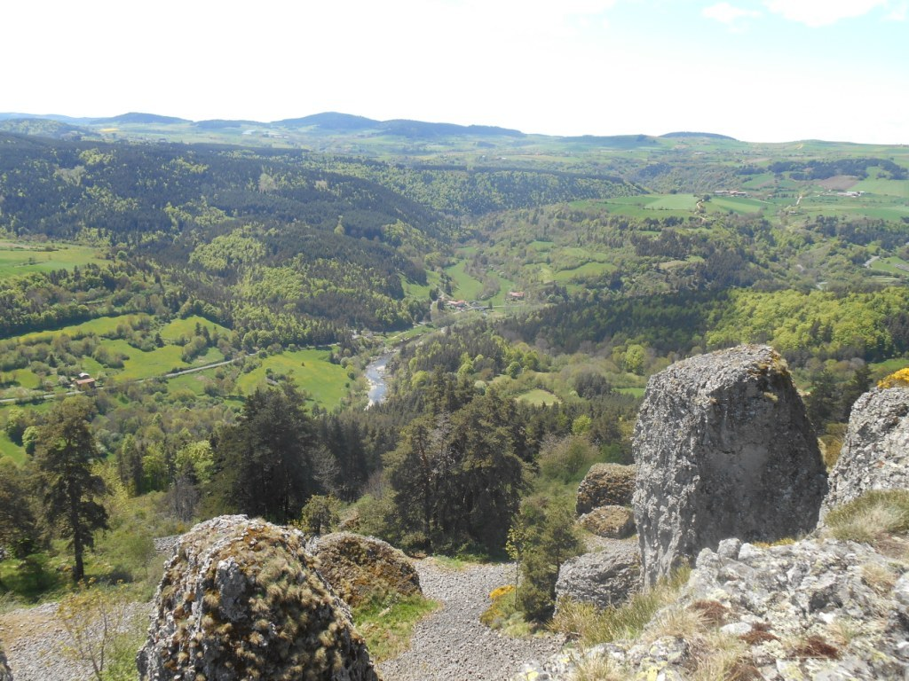 volcanic landscape: view from an oppidum. Our house is in the background (6-7 km).