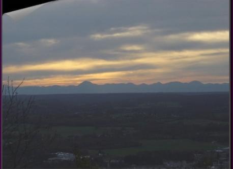 vue sur les volcans à 2 min