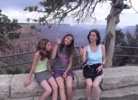 THE FAMILY AT THE GRAND CANYON