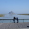 Le Mont Saint Michel depuis le barrage du Couesnon