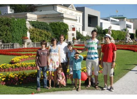 notre famille à Salzburg 2011