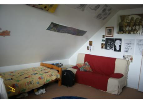 chambre de Jean Baptiste 1 lit 1 canapé convertible