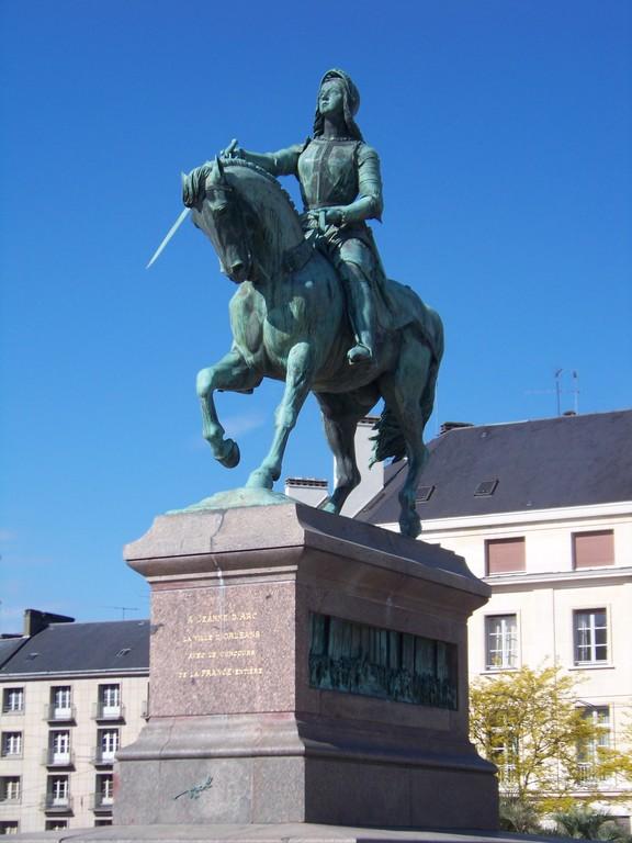 Jeanne d'Arc equestrian statue  Place du Martroi