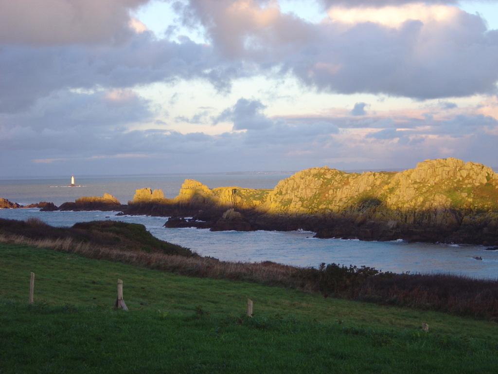 "The ""birds island"" near Cancale ""Pointe du Grouin""."