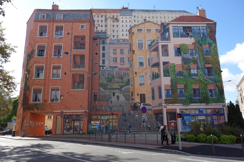Painted wall of the Canuts 2013  Croix Rousse hill