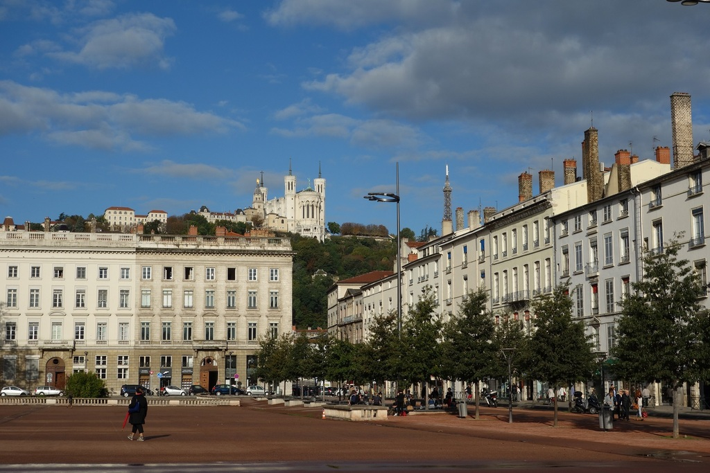 Basilique de Fourvière seen from place Bellecour